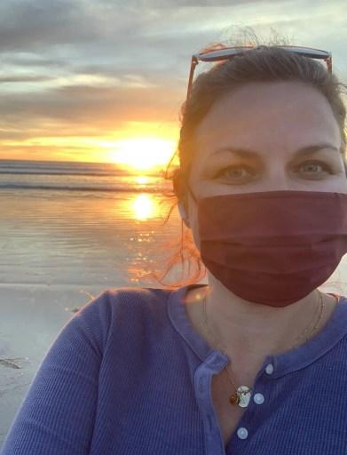 self-care, sunset, beach