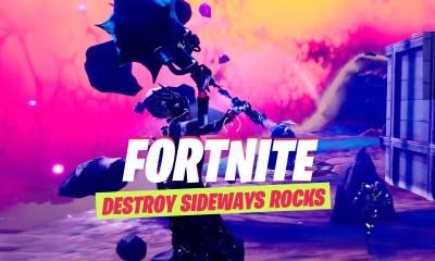 destroy Sideways Rocks fortnite guide