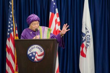 President Sirleaf Johnson of Liberia begs Obama for help with Ebola