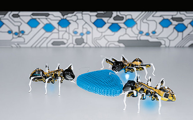 Factories of Future To Be Operated by Robotic Ants
