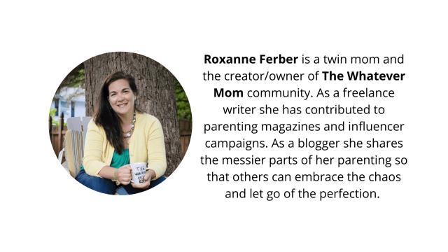 The whatever mom blogger bio