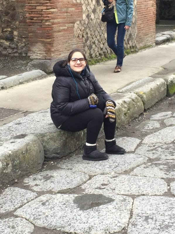 Morgan enjoys Italy!