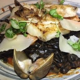 PASTA MACHO: not as exceptional as La Mar's (my favorite), but pretty close. Squid ink noodles, clams, mussels, shrimp, corvina, rich macho sauce, parmesan.