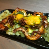 PLANCHA PULPO: nicely seasoned and cooked. Good, but could have also been hotter.
