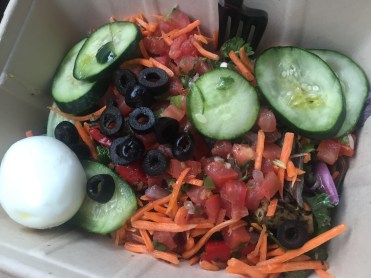 Lunch salad, courtesy of Whole Foods