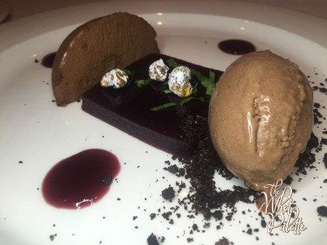 Dark Cherry Pate and Valrhona Chocolate Cremeux