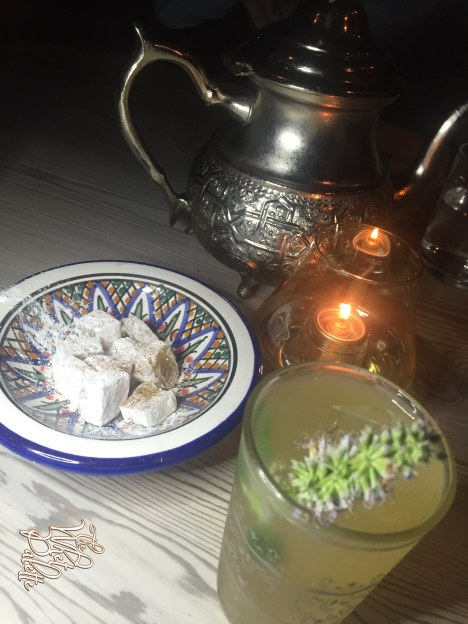 Cold Tea Service: Edgeware Road... Moroccan Mint Tea, Mate, Lemon Verbena, Lavender & Beefeater Gin.