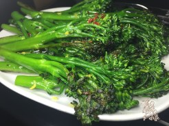 (Broccolini- not on the Miami Spice menu)
