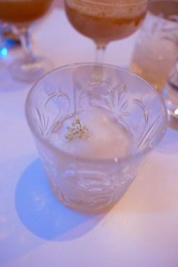 Elderflower Float: St. Germaine Liquor, lychee-lemon sorbet