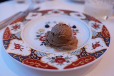 Black Garlic Ice Cream and Purée