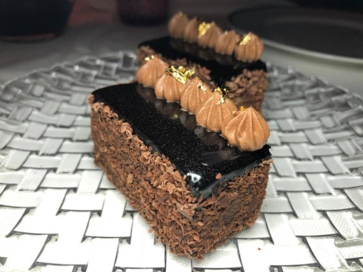 K + M Nicaragua Dark Chocolate Layer Cake