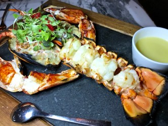 1.5 lbs Grilled Maine Lobster with a Thai Butter Sauce