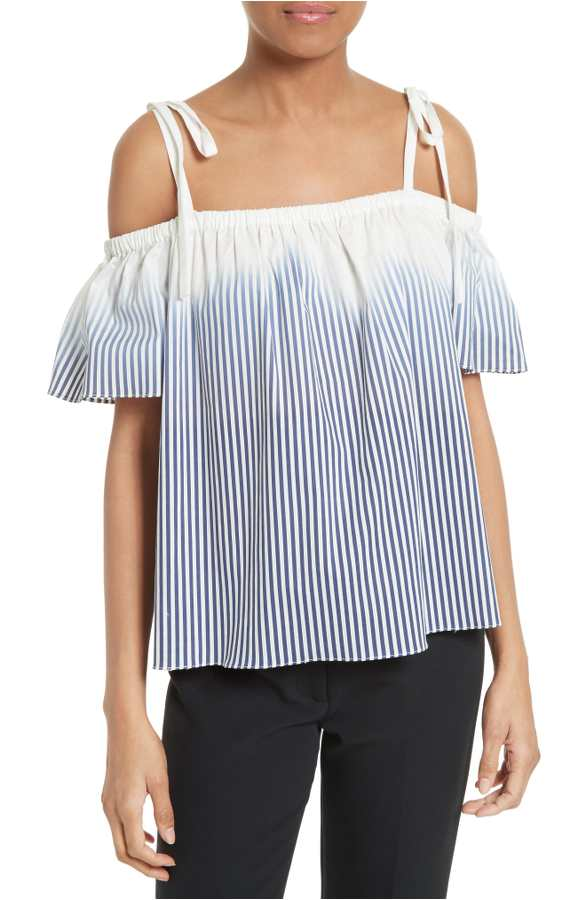 striped off the shoulder