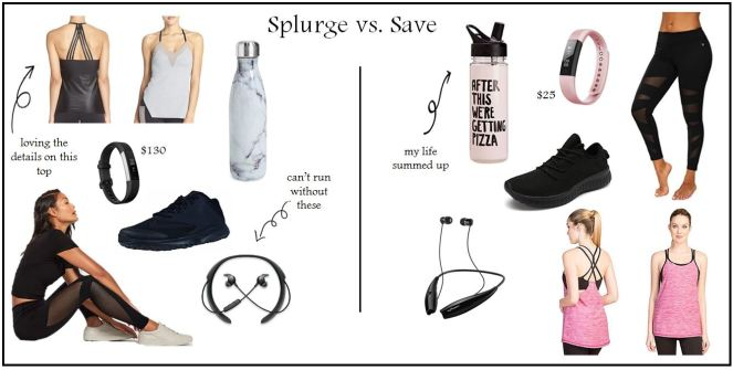 splurge vs save workout pic