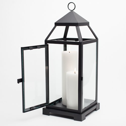 Richland Large Contemporary Metal Lantern Black
