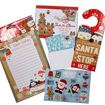 Christmas Letter to Santa Pack – Letter, Envelopes, Stickers, Door Hanger and Thank You Notes
