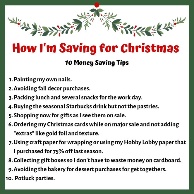 What I'm Doing NOW to Save for Christmas