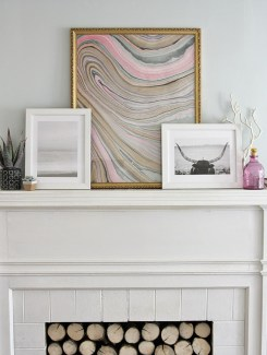 Framed Marble Wall Art