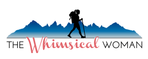 The Whimsical Woman logo for her travel and lifestyle influencer site