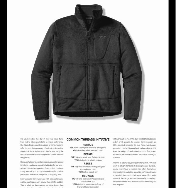 Patagonia: a company that actually encourages sales on the second hand market & by eBay Trading Assistants