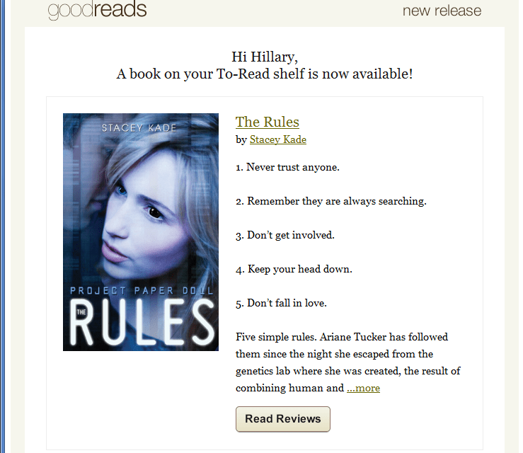 Amazon's Goodreads sent me an alert about a book and recommended I buy it on… Barnes and Noble?
