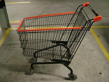 English: Shopping cart. Português: Carrinho de...