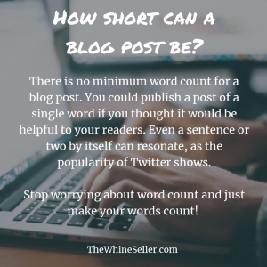 How short can a blog post be?