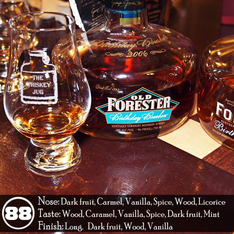 2006 old forester birthday bourbon review the whiskey jug