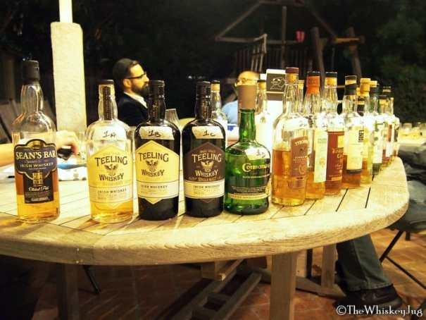 Malt Nuts - Single Malt Irish Whiskey Tasting - Full Bottle Lineup
