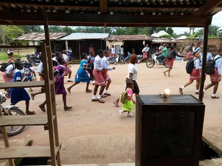 pupils in Ozubulu, Anambra State.