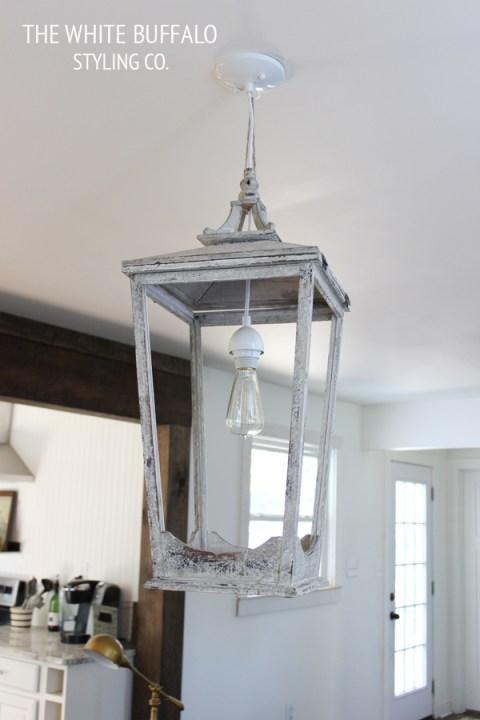 Outdoor Lantern Turned Light Fixture