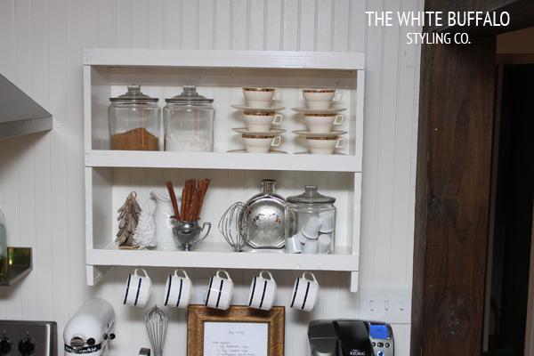 bookshelf-turned-coffee-and-baking-station