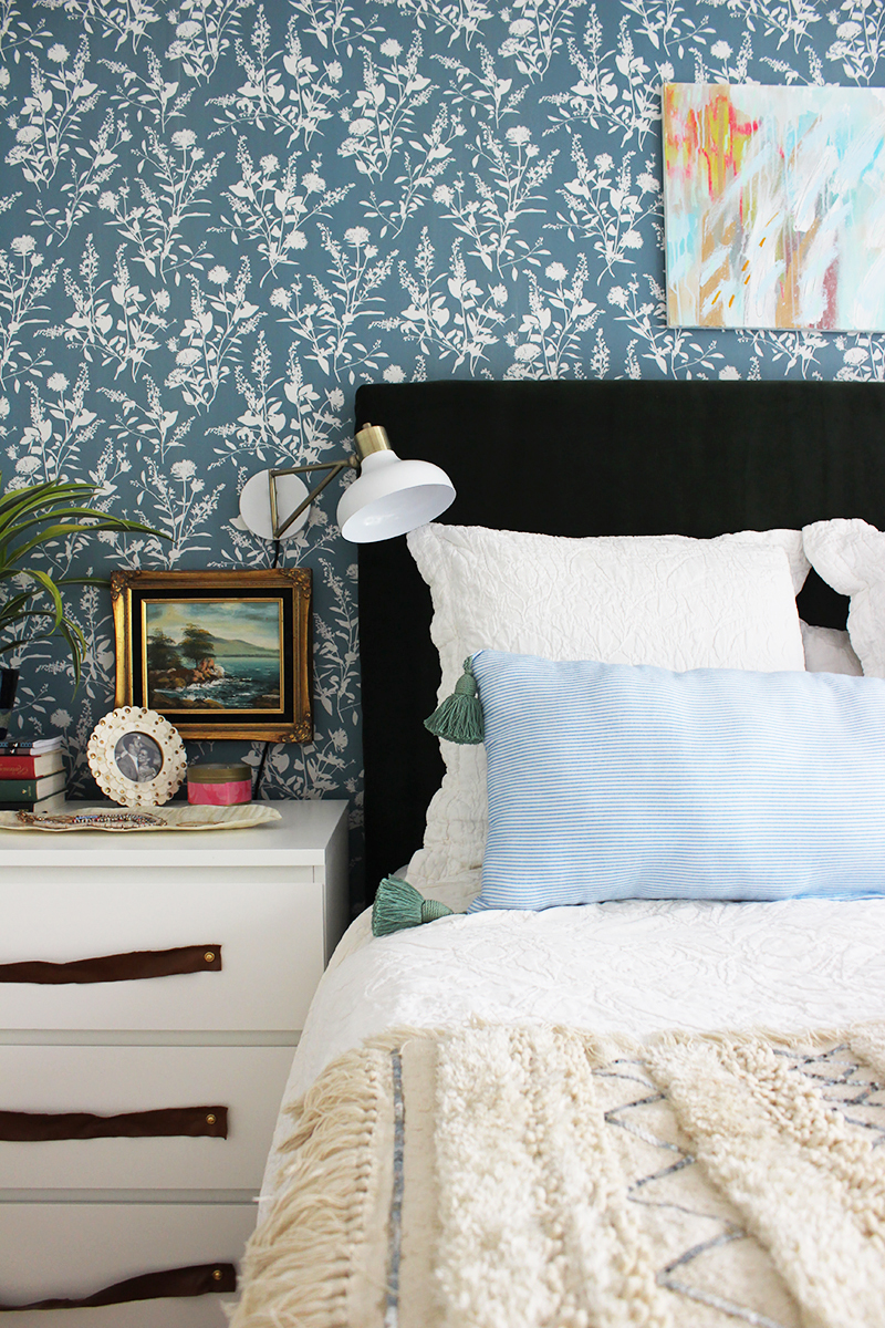 Colorful Boho Bedroom Makeover - thewhitebuffalostylingco.com on Boho Bedroom  id=20413