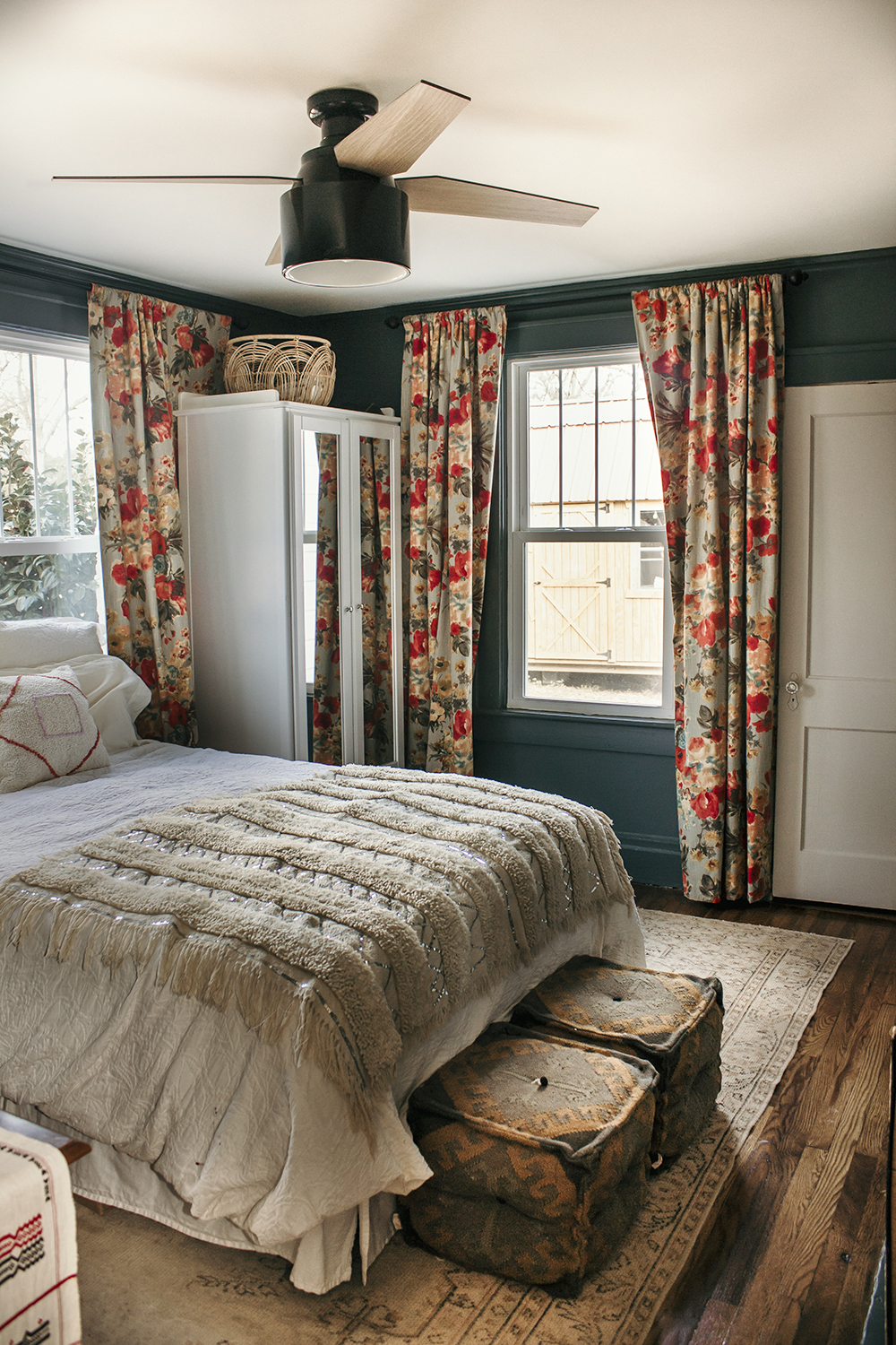 A Look at Our Master Bedroom - thewhitebuffalostylingco.com on Master Bedroom Curtains  id=69736