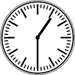 Hours of opening clock