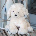 """""""Billy"""" Soft Fluffy Toy Dog Ivory"""