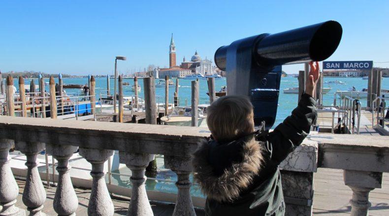 Venedig mit Kindern - Fernglas