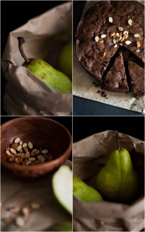 Chocolate Almond Pear Cake