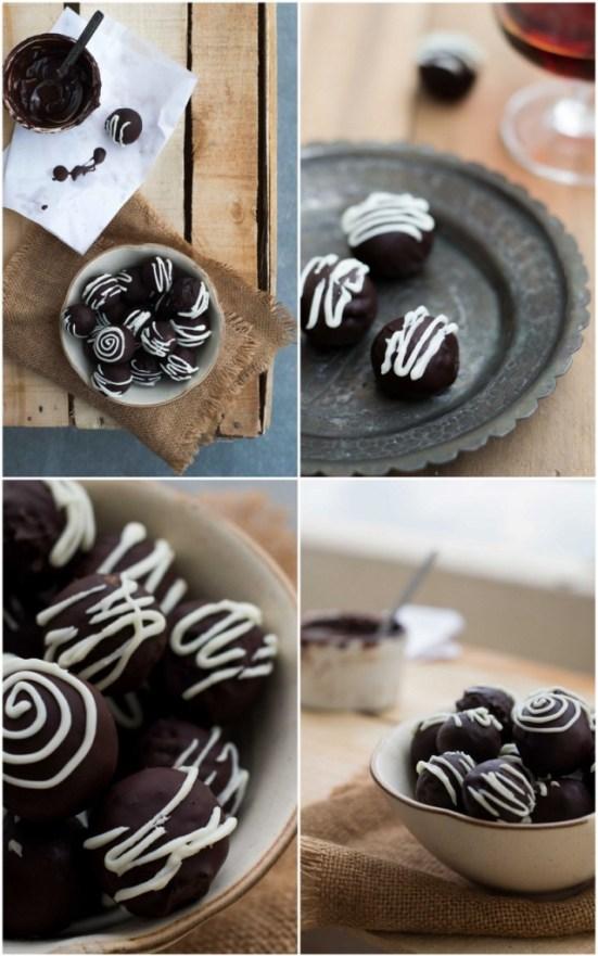 Cocoa & Almond Rum Truffles