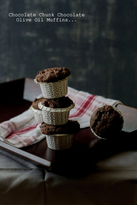 Chocolate Chunk Chocolate Muffins 1