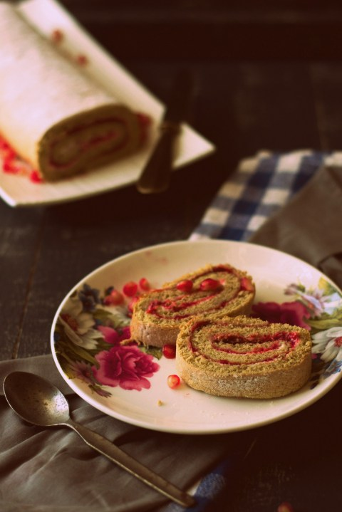 Pomegranate & Strawberry Roulade 5