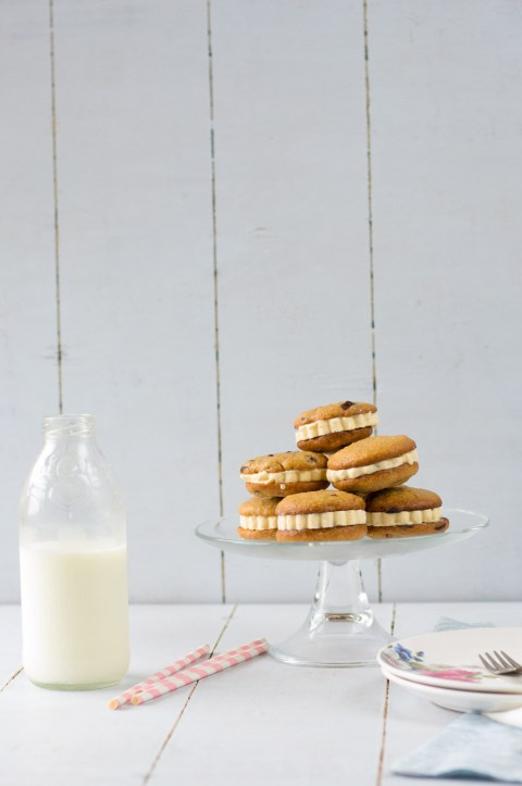 Oats & Wholewheat Chocolate Chip Cookie Ice Cream Sandwich 1