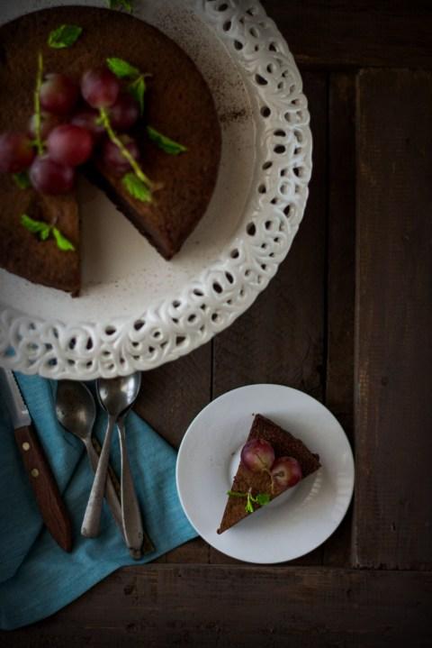 One Bowl Chocolate Almond Dessert Cake