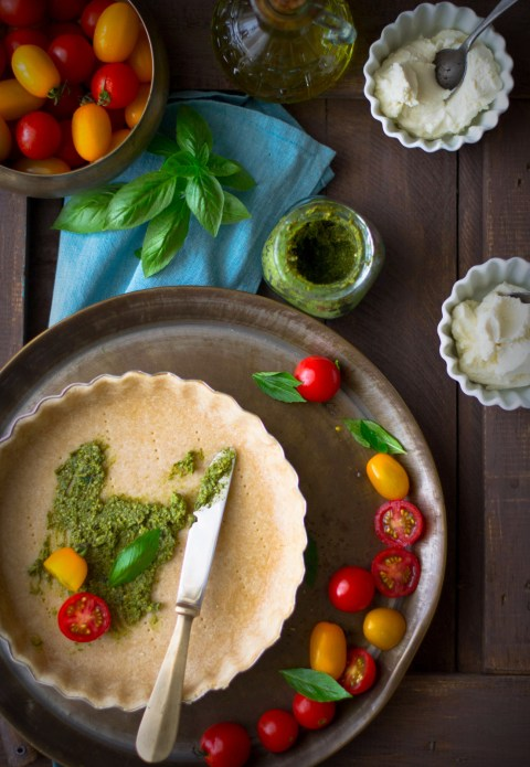Tomato Goat Cheese & Basil Pesto Tart - The White Ramekins