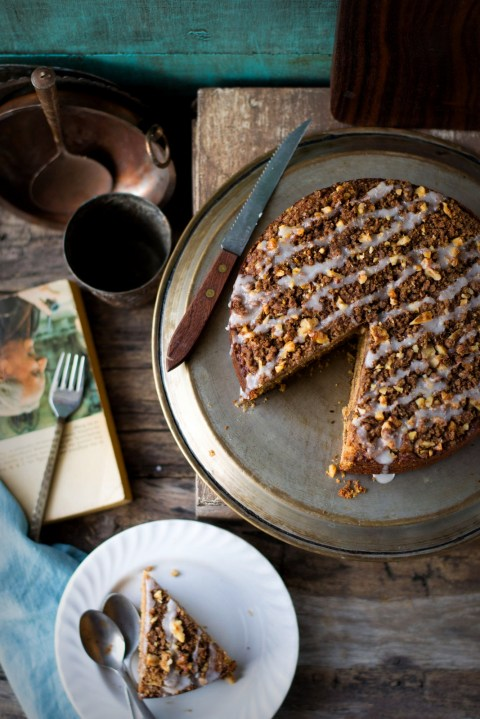 `Wholewheat Pumpkin Walnut Struesel Cake