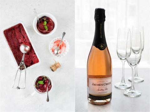 Cherry Chocolate Chunk Champagne Sorbet