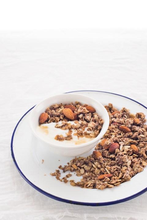 vanilla almond milk espresso granola