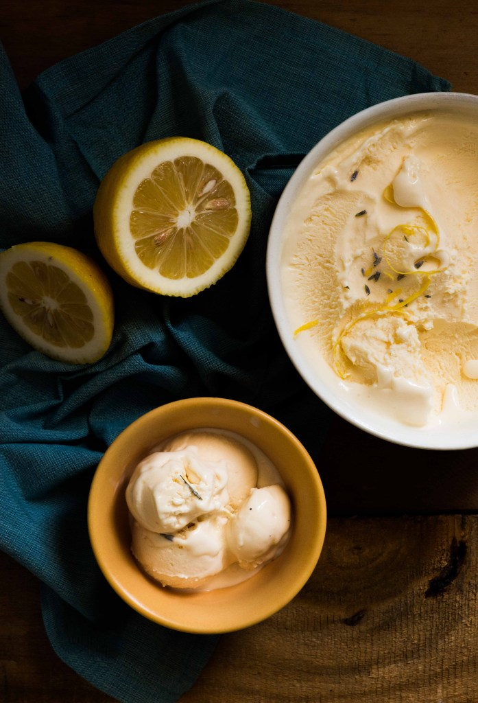 lemon lavender ice cream