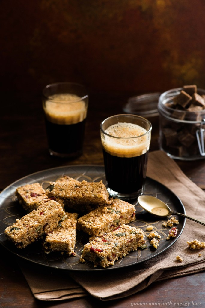 golden amaranth energy bars