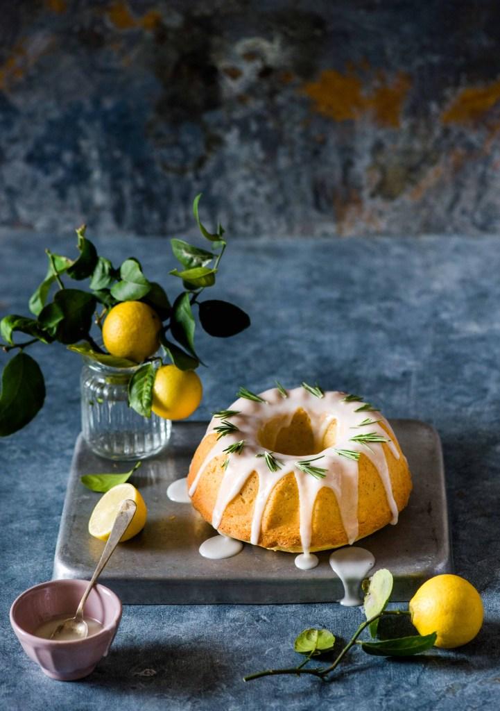 Lemon Rosemary Crumb Cake